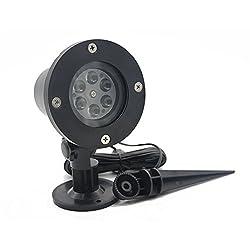 Zehui Colourful LED Projection Lamp Waterproof Pretty Snow Flake Light Outdoor Lawn Light Stage Light 7W EU Plug