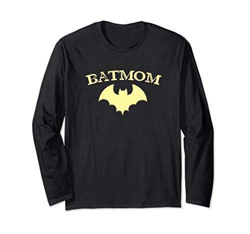 Unisex Batmom Super Hero Long Sleeve Shirt Proud Mom Costume Gift Medium -
