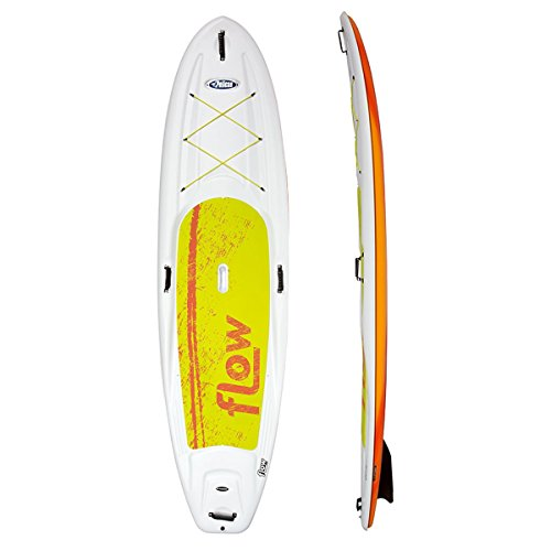 Pelican Flow 106 Stand Up Paddleboard - White/Red Fade