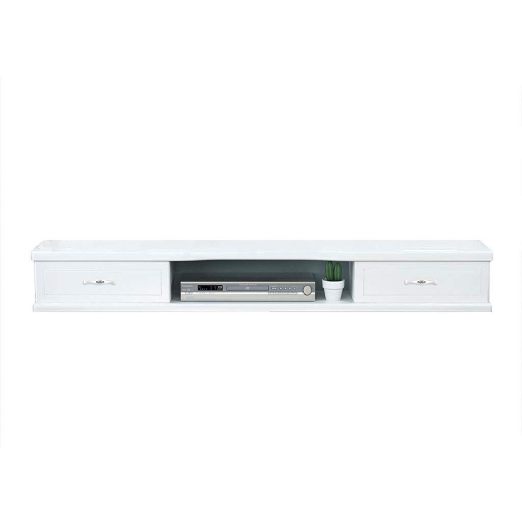 小さな壁の壁掛けテレビのキャビネットのリビングルームの装飾ベッドルームのパーティションは、トップボックスの棚を設定中断 (色 : 白, サイズ さいず : 100cm) B07KTKV482 白 100cm