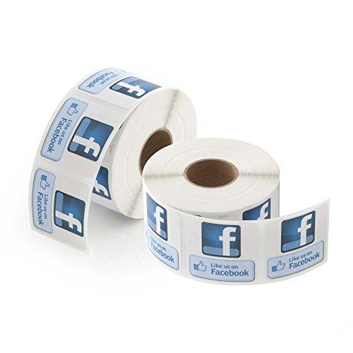 "Like Us on Facebook Labels 1.5""x 1.5"" LV-FB2"