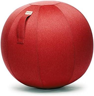 Asiento de plástico en forma de pelota, tela, rojo rubí, 60cm ...