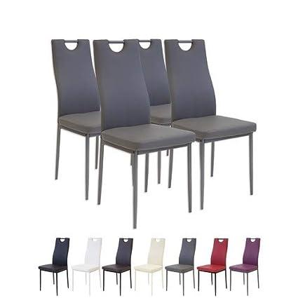 4 x esszimmerstühle salerno grau