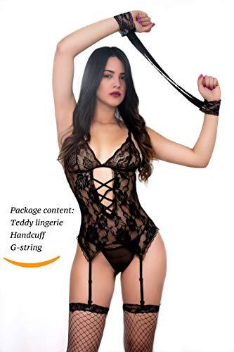 SophiaLove Women Sexy Lace Lingerie Garter Belts Corset Teddy Bodysuits (XL, ()