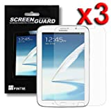 Fintie 3-Pack Invisible Screen Protector Shield With Individual Retail for Samsung Galaxy Note 8.0 Tablet