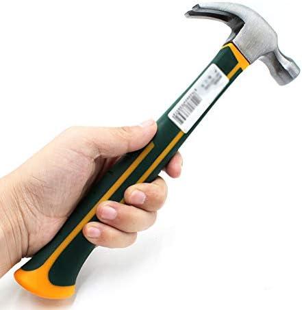 プロ用爪ハンマー、グラスファイバーハンドル、1.5ポンド、強くて耐衝撃性、持ちやすく、家庭用メンテナンス用
