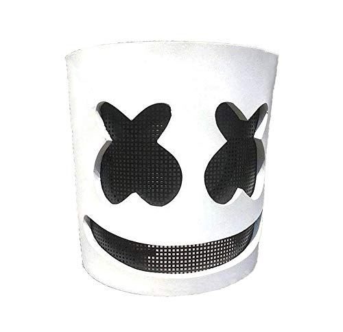 Fortnite DJ Marshmello Drift Mask of Dance Party Supplies for Halloween Costumes Accessory, Cosplay Theme Party Favors and Props White -