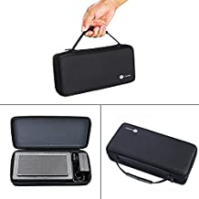Carry Pouch Protective Box Bag Cover Case for Bowers & Wilkins T7 Creative Sound Blaster Roar 2 / Creative Sound Blaster Roar Portable Bluetooth Speaker Extra Space for Plug & Cables (Black)