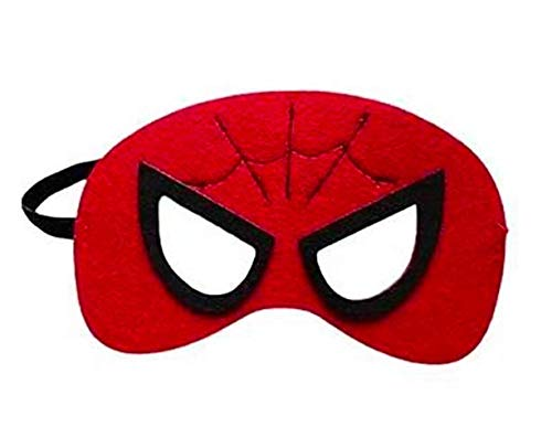 (12 Pieces Superheroes Party Fun Cosplay Felt Masks for Boys Girls (RedSpider))