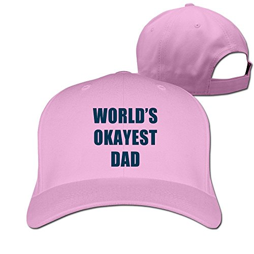 Worlds Okayest Dad Adjustable Fitted Caps Trucker