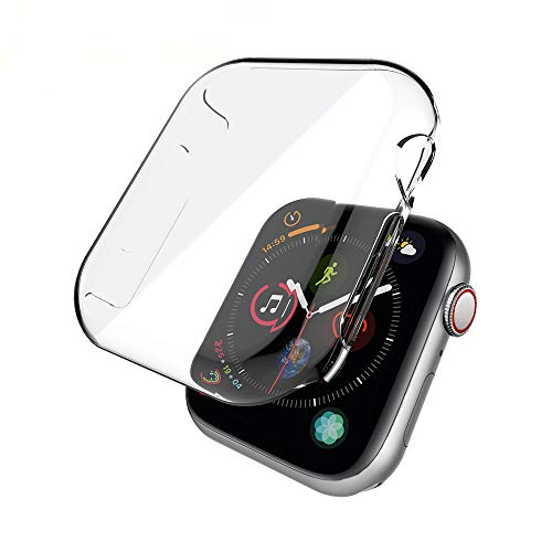 Price comparison product image Apple Watch 4 Case, Apple Watch 40mm Case, Teayoha Soulmate Series PC iWatch Screen Protector Clear Cover for Apple Watch Series 4 (40mm)-2 Pack