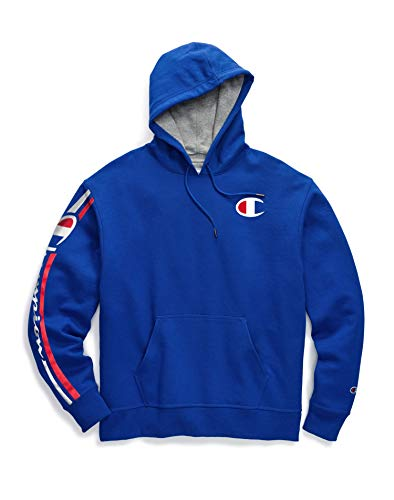 Champion Mens Powerblend Pullover Hoodie, M, Vertical Surf The Web ()