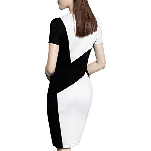 ... Pendler elegantes Kleid schwarzes und weißes Nähkleid professionelles  Paket Hüftkleid - schwarz und weiß 3xl black ...
