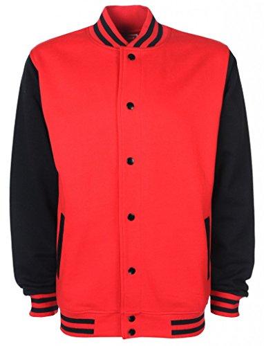 FDM Damen Herren College Jacket FV001 Black/Charcoal BnfZY