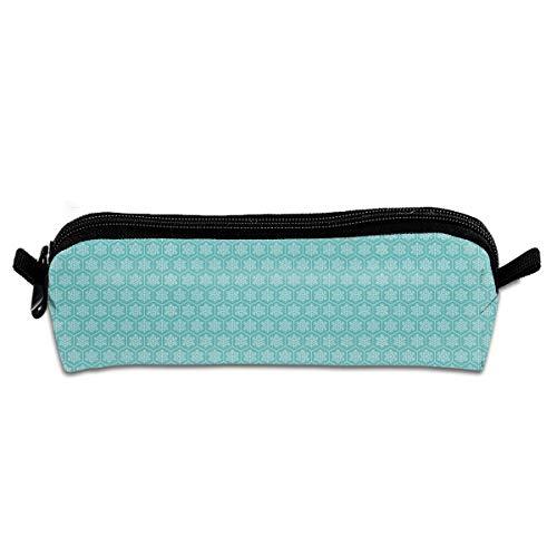 Christmas Winter Aqua Snowflake Novelty Colored Quality Zipper Travel Storage Makeup Cosmetic Bag Purse
