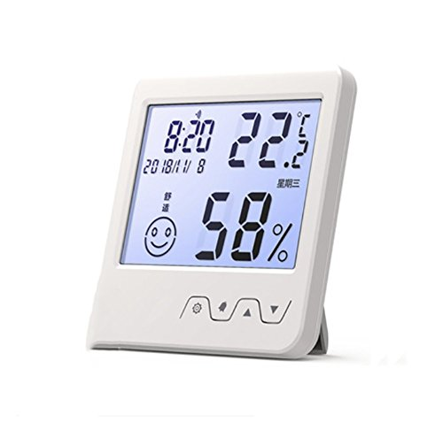 RUXI Thermometer Electronic Luminous Simple Cute Alarm Clock by RUIX