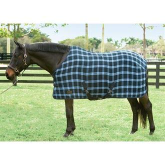 (Dover Saddlery Upland Chill Chaser, Size 72, Dark Grey/Light Grey/Adriatic Blue Plaid)