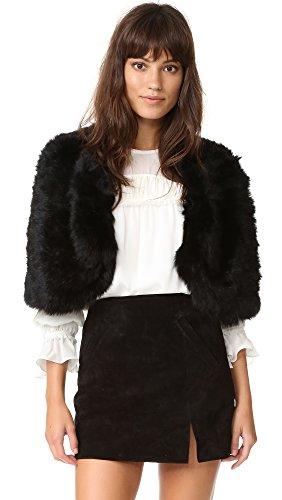 Adrienne Landau Women's Knit Fur Capelet