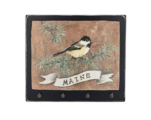 Maine State Bird Key Rack - Chickadee - Original Art