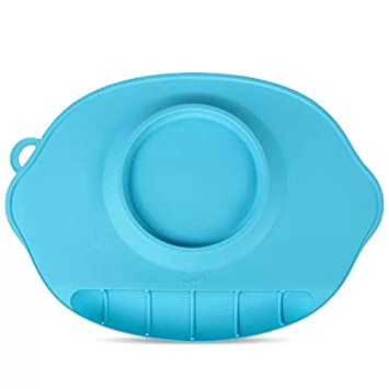 Astra Gourmet bandeja de silicona con diseño y cuenco para bebés, anti-derrame fuerte