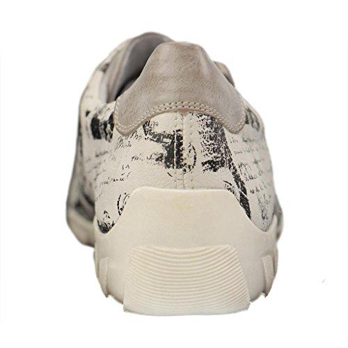 Señoras de la zapatilla de deporte de cuero azul Remonte tamaño 36-43 R3435-14 gris