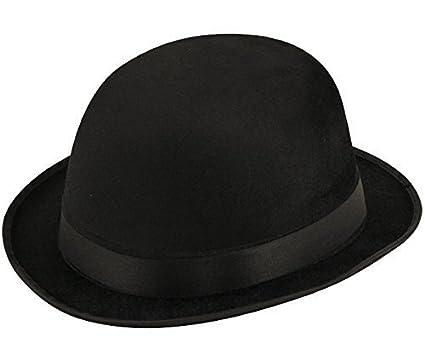 CHARLIE CHAPLIN UNISEX BLACK VELOUR BOWLER HAT FANCY DRESS ACCESSORIES HAT  (BLACK)  Amazon.co.uk  Clothing 5b301a3a9fb