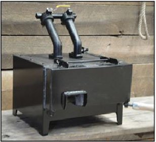 WHISPER BILLY 2 BURNER GAS FORGE by NC TOOL