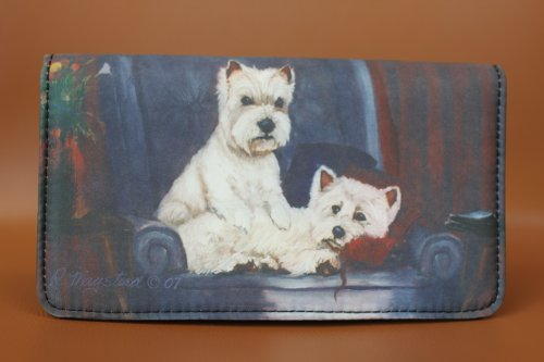 West Highland White Terrier Dog 4 1/4'' x 7 1/4'' wallet by Ruth Maystead (Wallet Westie)