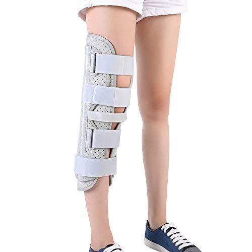 Medical Unisex Knee Immobilizer Brace Straight Leg Knee Splint Comfort Full Leg Brace for Knee Post-Pre-Operation & Surgery Recovery (16'' Length)