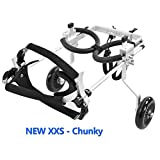SURPCOS New Adjustable Pet Dog Wheelchair for Back Leg Rehabilitation (Chunky, XXS Size (Weight: 4.4-11lbs))