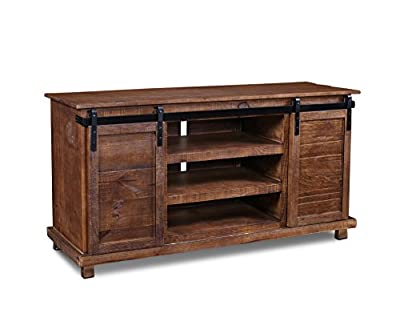 "Westgate Rustic Brown 66"" Sliding Barn Door TV Stand / Media Console"