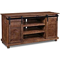 Westgate Rustic Brown 66 Sliding Barn Door TV Stand / Media Console