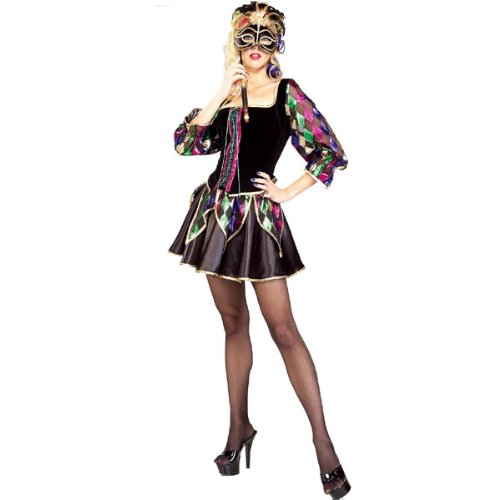 Sexy Jester Costume (Women's Adult X-Small / Small (Sexy Mardi Gras Jester Costumes)