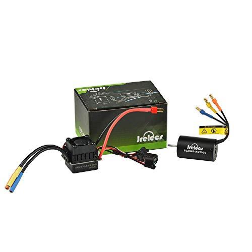 Jrelecs 2845 3930KV 4P Sensorless Brushless Motor & 45A Brushless ESC Electronic Speed Controller for 1/14 1/16 1/18 RC Car (2845 3930KV) ()