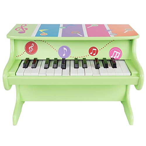 Honesty 25 Key Big Wooden Childs Piano for Toddlers 17 x 9 x 11.75 First Baby Piano
