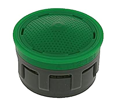 Neoperl 10 6350 5 Perlator HC Economy Flow Regular Aerator Insert with Washer, Regular, 1.5 GPM, Aerated Stream, Honeycomb Screen, Green Dome, Acetal