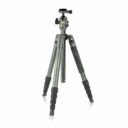 Vanguard VEO 2 265AB Aluminum Travel Tripod with VEO 2 BH-50 Ball Head for Sony, Nikon, Canon, Fujifilm Mirrorless, Compact System Camera (CSC), DSLR