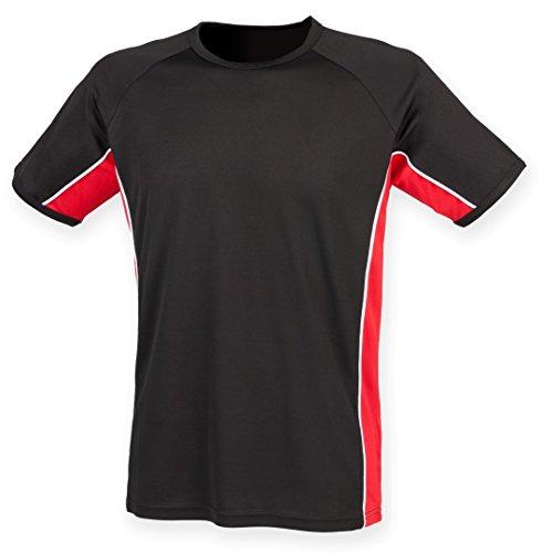 Finden y Hales panel Rendimiento T–shirt Black/ Red/ White