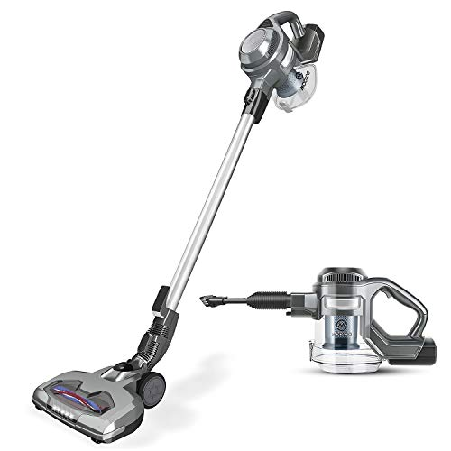MooSoo Vacuum Cleaner 2 in 1 Cordless Stick Vacuum with Strong Suction Bagless for Home Car Pet
