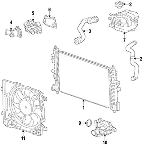 Amazon.com: Value RADIATOR Compatible with 2013-2014 CHEVROLET SPARK:  Automotive | Chevrolet Spark Engine Diagram |  | Amazon
