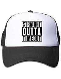 4279df558d4 Boys Girls 3-13yr Straight Outta Timeout Adjustable Trucker Sun Visor Cap