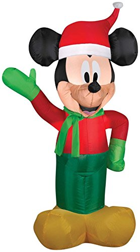 Gemmy Inflateables Holiday 86348 Air Blown Mickey In Disney Winter Outfit Decor (Air Blown Inflatables)