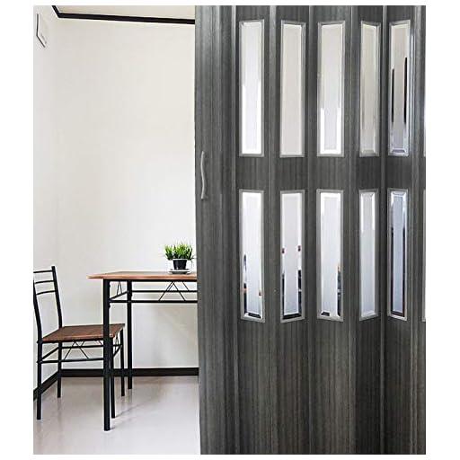 窓付パネルドア Lumie ルミエ 幅100cm×高さ176cm ブラックアッシュ木目