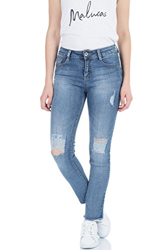 Jeans Skinny Femme Bleu Bleu Bleu malucas dH0wRqd
