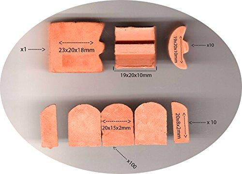 Brick Roof Tile for Brick Building Kit 20x15x2 mm 20x8x3 19X20X10 23X20X18 - 120 Piece ()
