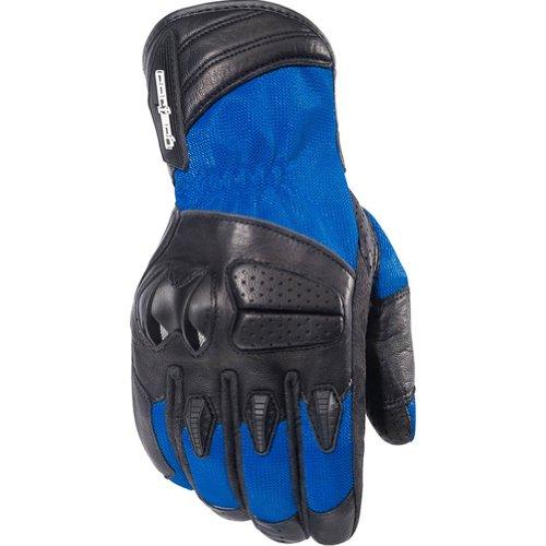 Cortech GX Air 3 Men's Mesh Street Bike Motorcycle Gloves - Blue / Medium