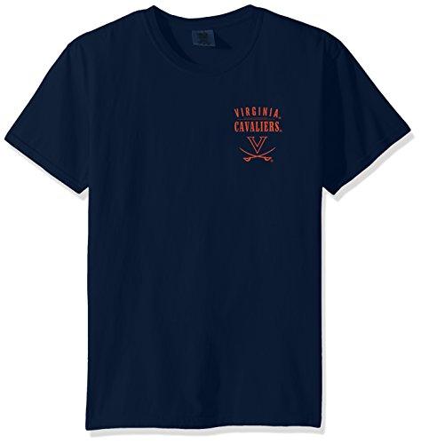 (Image One NCAA Virginia Cavaliers Adult NCAA Limited Edition Comfort Color Short Sleeve T-Shirt,XXL,TrueNavy)