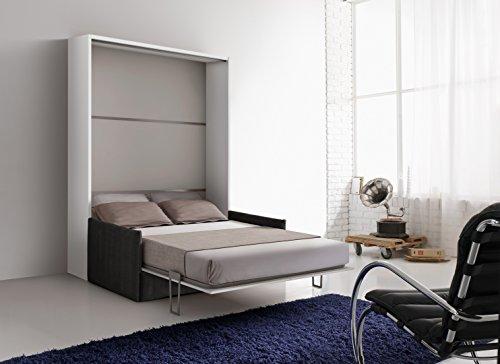 Letto Grigio Scuro : Mobile letto a scomparsa otto colore bianco con divano grigio scuro
