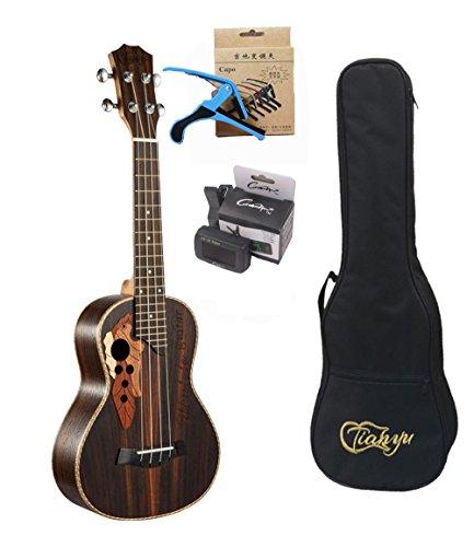 23-inch Hawaii ukulele rosewood professional concert Ukulele send tuner trim folder thick piano bag - Image 8