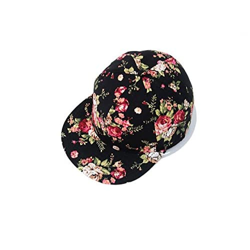 d7215e14d6933 Glamorstar Women s Floral Flower Snapback Hip-Hop Cap Baseball Hat Headwear